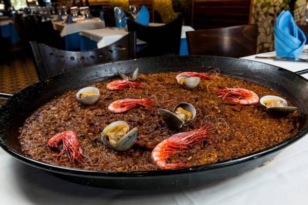 Paella Marisco Restaurante Playa Barcelona